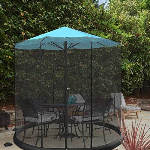 Pure Garden 50-LG1205 Bug Screen for 10-11 Table Umbrellas & Furniture Patio Umbrella Mosquito Net, Black (Netting With Umbrella)