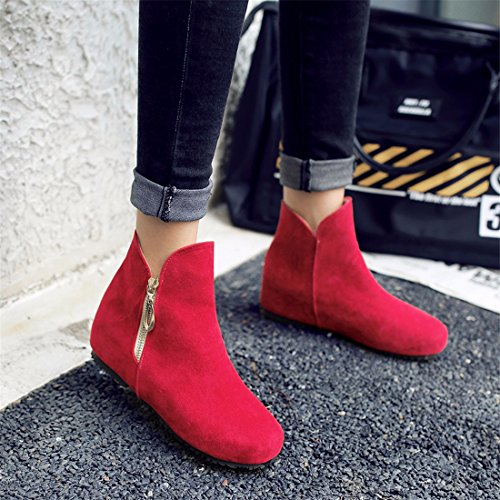 Size Boots Women's gules Boots Shoes RFF Winter Suede wnUZqYYx