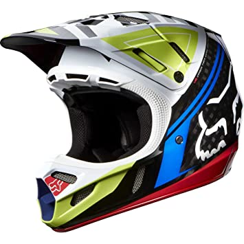 Fox V4 Intake MX Casco, rojo/negro