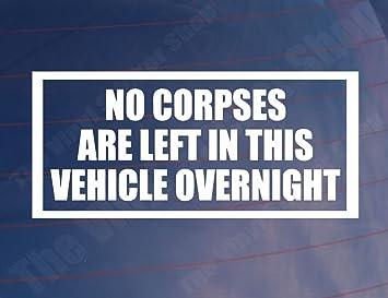 NO DOGS LEFT IN VEHICLE OVERNIGHT Funny Car//Van//Bumper//Window Sticker