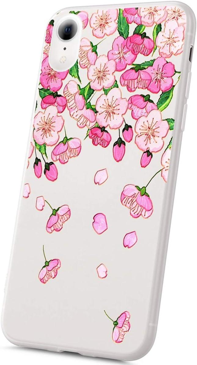 en amor Uposao Funda iPhone XR Carcasa Scrub Transparente Dibujos
