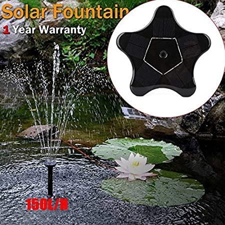 Higger Bomba Solar Fuente de Agua, Bomba de Agua Exterior, Estrella de mar, Forma de Fuente para Piscina, jardín: Amazon.es: Hogar
