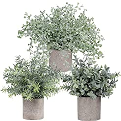 Winlyn Mini Potted Plants Artificial Flo...