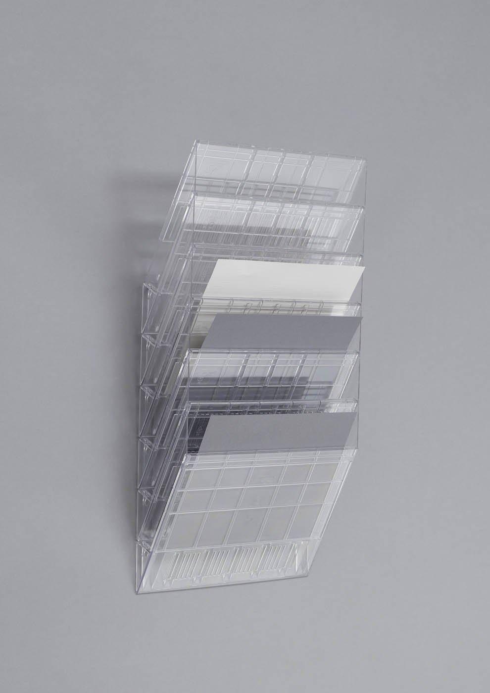 cod. #1709781400 espositore da parete 12 comparti f.to A4 orizzontale trasparente Flexiboxx 12 A4 Orizzontale 348x1140x95 mm DURABLE