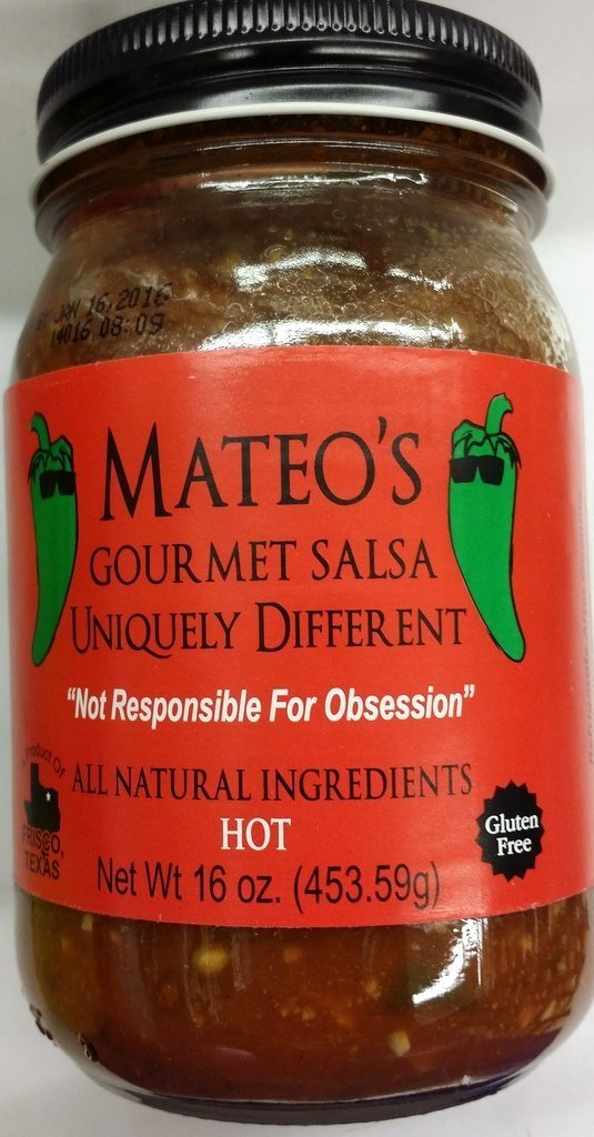 Mateos Gourmet Salsa Hot 16 Oz