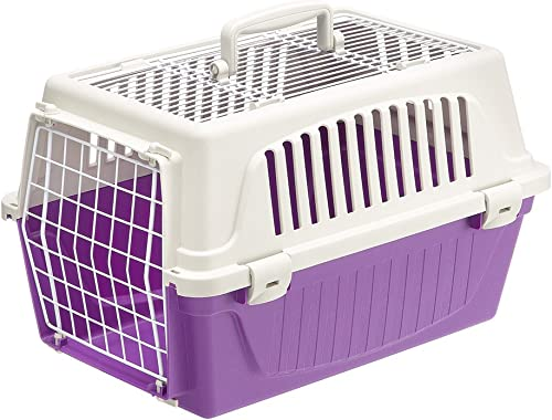 Atlas Two-Door Pet Carrier Easy Assembly Pet Carrier with Front Top Door Featuring Secure Side-Clip Construction No Tedious Nut Bolt Assembly