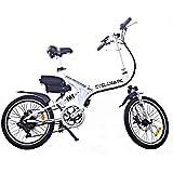 Cyclamatic Pro CX4 Dual Suspension Foldaway Electric Bike - White