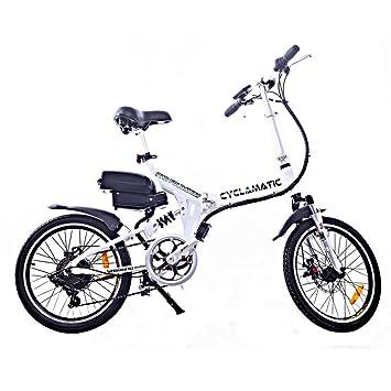 Cyclamatic - Bicicleta eléctrica plegable de suspensión dual Pro ...