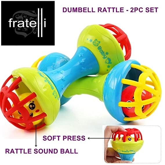FRATELLI Dumbbell Rattle [ 2pc Set ]