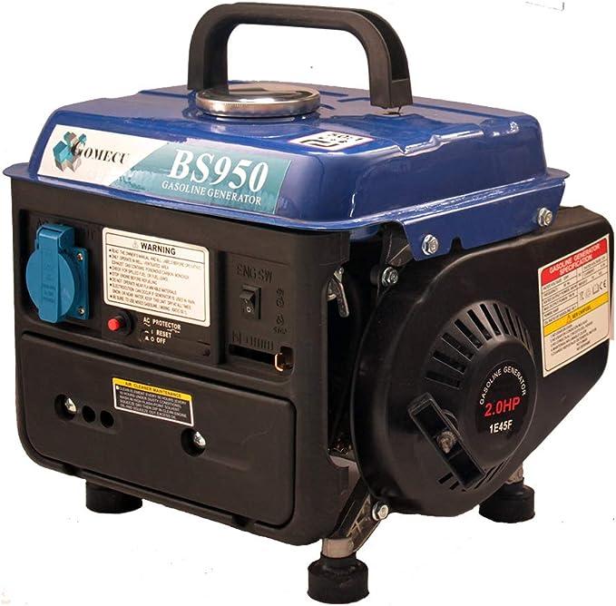 Generador Gasolina Motor 2T 750W 2.0HP Bobinado 100% Cobre Salida AC 220V DC 12V