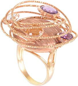 Daniela Coara Ladies 18K Gold Ring - Size 7.5 US
