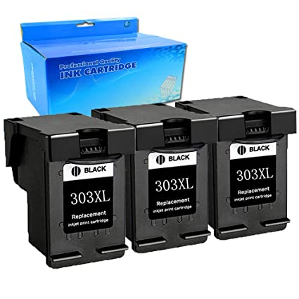 3 Cartuchos de Tinta Negra de Repuesto para HP 303 303XL de Ouguan ...