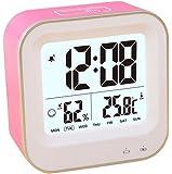PYRUS 目覚まし時計 日付、日付、温度を示す 充電式旅行の目覚まし時計 (ランダムな色)