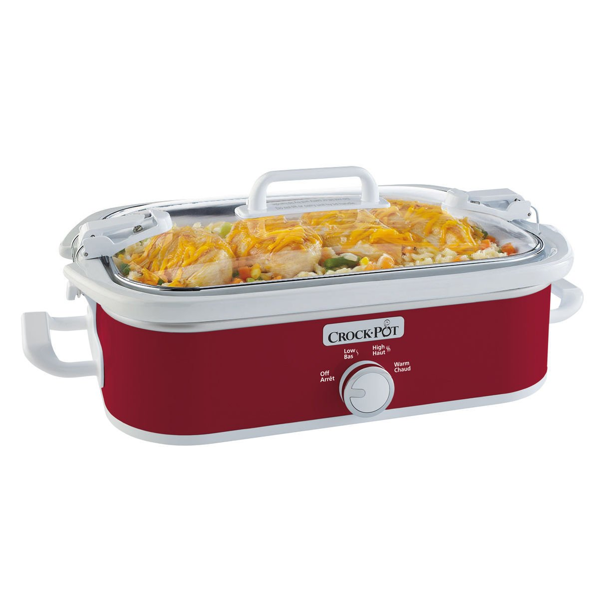 Crockpot Casserole Crock Slow Cooker SCCPCCM350-R-033