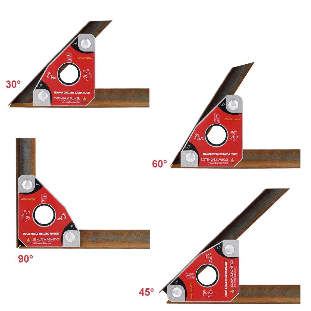 le Soudage Walfront Supports de Soudure Magn/étiques Outils de Soudage 30 /° 60 /° 45 /° 90 /° pour la Soudure WM4-304590S Equerre de Montage Soudage Magn/étique Multi-angle lAssemblage