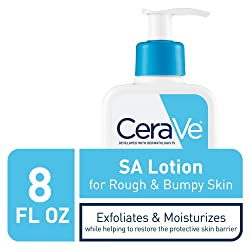 CeraVe SA Lotion for Rough & Bumpy Skin   8 Ounce   Vitamin D, Hyaluronic Acid, Salicylic Acid & Lactic Acid Lotion   Fragrance Free