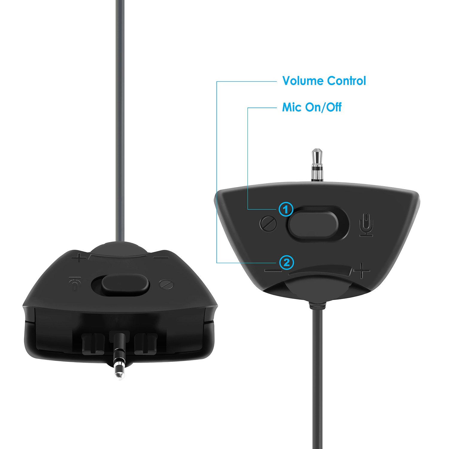 Black Everydaysource Compatible With Microsoft xBox 360 Headset w// Mic