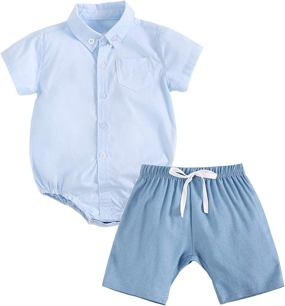 Sanlutoz Algodón Bebé Niño Pantalones Cortos Conjuntos Verano Bebé ...