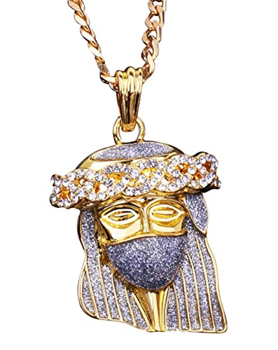 Iced Out Ape Design Pendant Hip Hop Clothing Brand Brown Simulated Diamond Chain