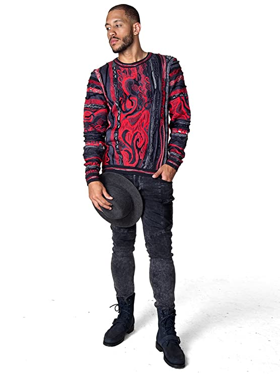dfe31f22f3 COOGI Classic Crew Neck in Black and Red at Amazon Men s Clothing store