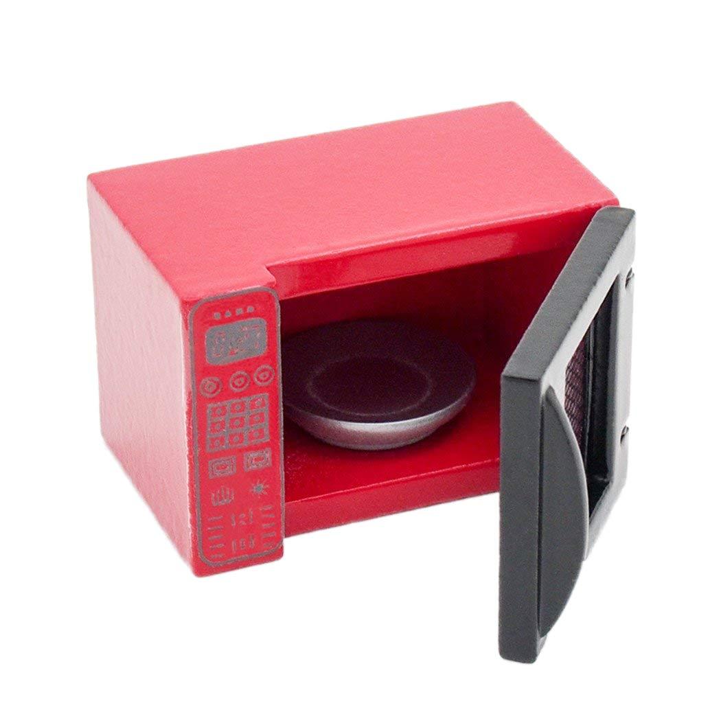Amazon.es: Odoria 1/12 Miniatura Horno Microondas Rojo Cocina ...
