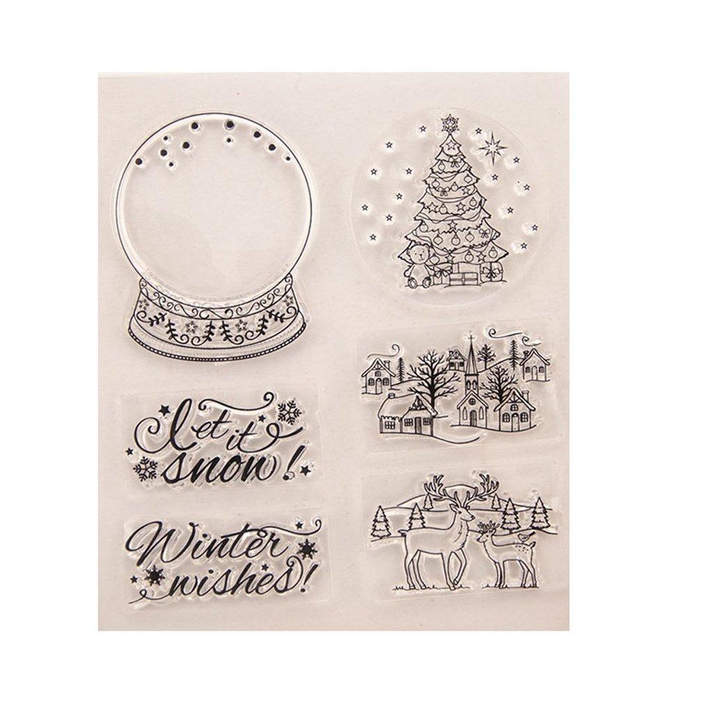 HBSHE Albero fai da te in silicone trasparente timbro Cling Seal Album da collezione