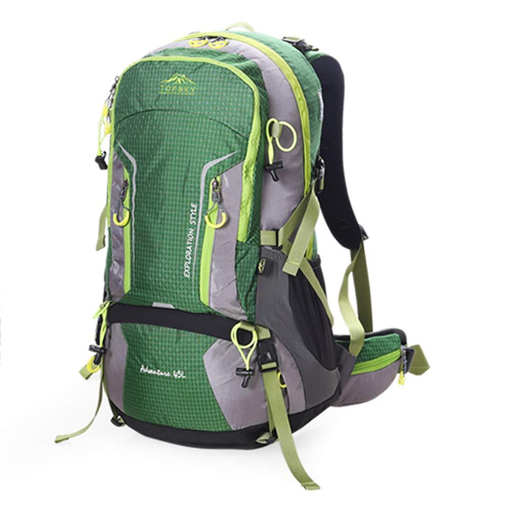 vert  CXLIN Sac à Dos de randonnée en Plein air, Ultra léger, Grande capacité imperméable, 45 litres, adapté aux randonnées d'une journée (Orange, Vert),Orange