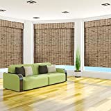 Tropical Rustic Bamboo Roman Shade – Size: 51″W x 74″H For Sale