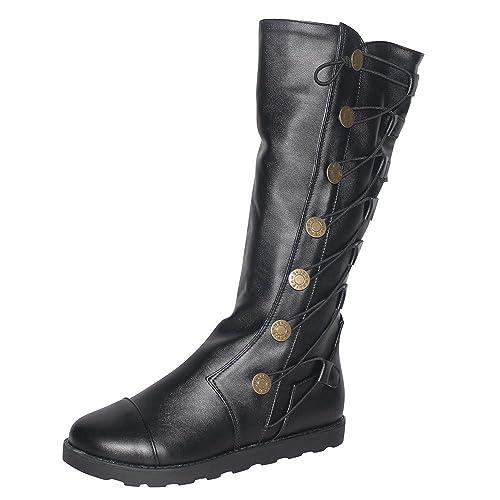 Botines de Invierno Mujer, Btruely Zapatos Mujer Otoño Invierno Zapatillas Deportivas de Mujer Botas Altas de Cuero con Cordones. Botas Planas de Cuero.