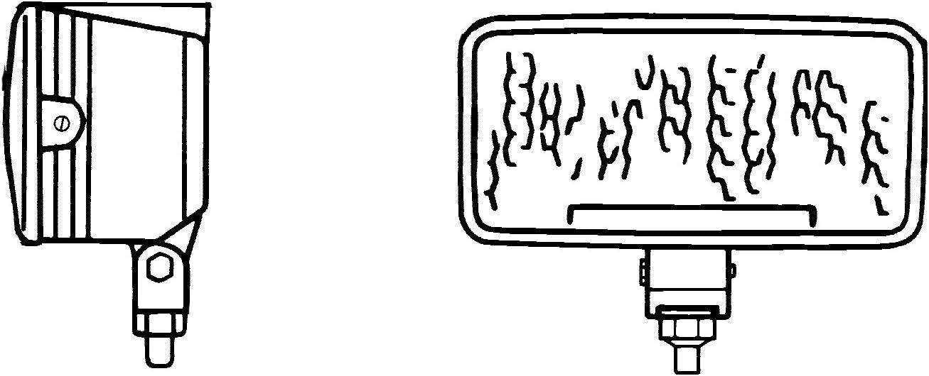 Halogen H3-12V//24V Anbau HELLA 1GD 005 700-501 Arbeitsscheinwerfer Nahfeldausleuchtung Torero 5700 h/ängend//stehend