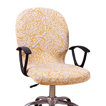 Fine Freahap Office Chair Cover Not Chair Slipcover Computer Chair Cover Stretch Light Yellow Gmtry Best Dining Table And Chair Ideas Images Gmtryco