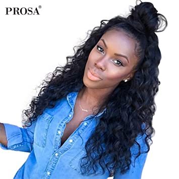 New Fashion 13x6 Part Lace Frontal Closure Pre Plucked With Baby Hair Brazilian Afro Kinky Curly Lace Closure Natural Color Prosa Remy Hair Extensions & Wigs