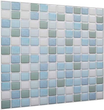 Carrelage Decoratif En 3d Pour Carrelage Mural Blanc Bleu Bleu