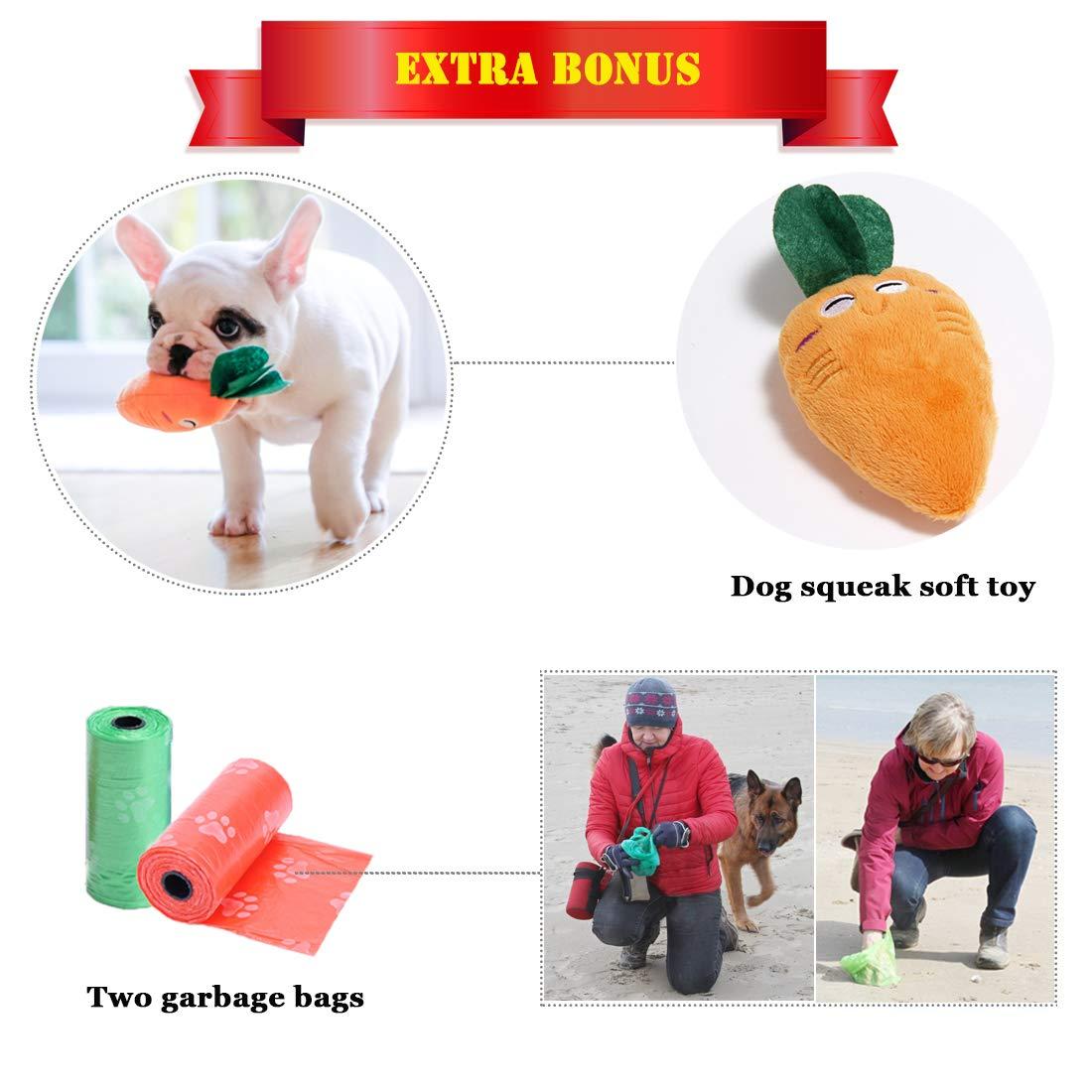 clicker TVMALL Sacchetto di Cibo per Cani Sacchetto di Allenamento per Cani Liberi per Cani con Dispenser a Sacco Integrato Borsa Snack per Cani con Tracolla Regolabile Fischio di Allenamento