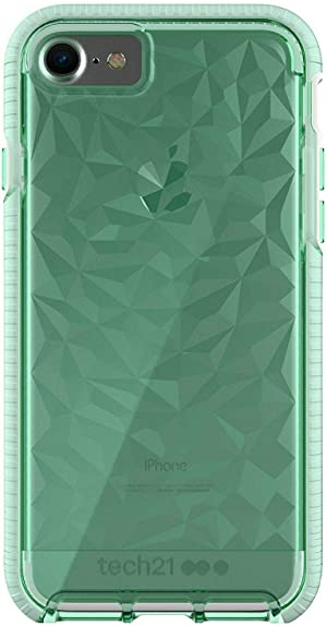 tech21 Evo Gem Phone Case with 3-Layer Drop Protection for Apple iPhone 6/7/8 and SE (2020)- Green (T21-5407)