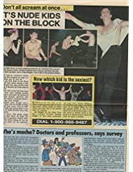 New Kids on the Block Shirtless original clipping magazine photo 1pg 9x12 #R3849