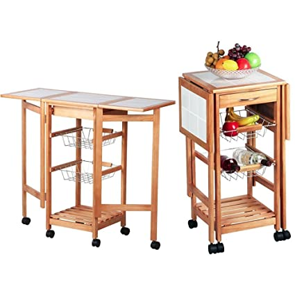 Incredible Amazon Com Cirocco Wooden Rolling Kitchen Island Cart Download Free Architecture Designs Scobabritishbridgeorg