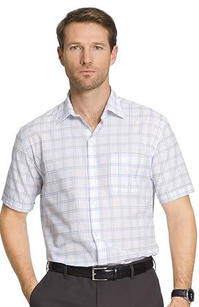 b132414fd34 Van Heusen Men s Classic Fit Patterned Short Sleeve Shirt