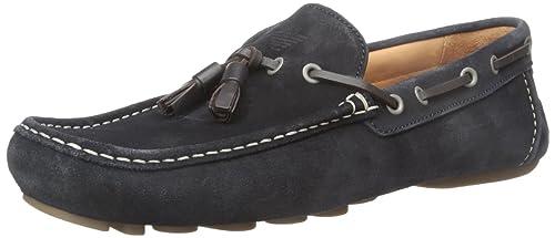 Armani Jeans Suede Mocasines con borla Slip-on del holgazán, Blue, 40: Amazon.es: Zapatos y complementos