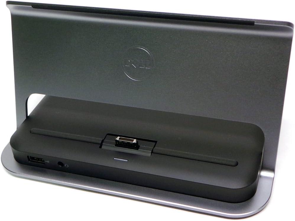Genuine Dell Latitude 10 ST2 (ST2) ST2e Touch Tablet JD0VV 9PYKF Docking Dock Station Port Replicator Media Base Stand Compatible Part Numbers: JD0VV, 9PYKF, 53V3D, 4VR3J