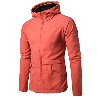 Abetteric Mens Solid Color Simple Pure Color Zipper Long-Sleeve Resolve Jacket