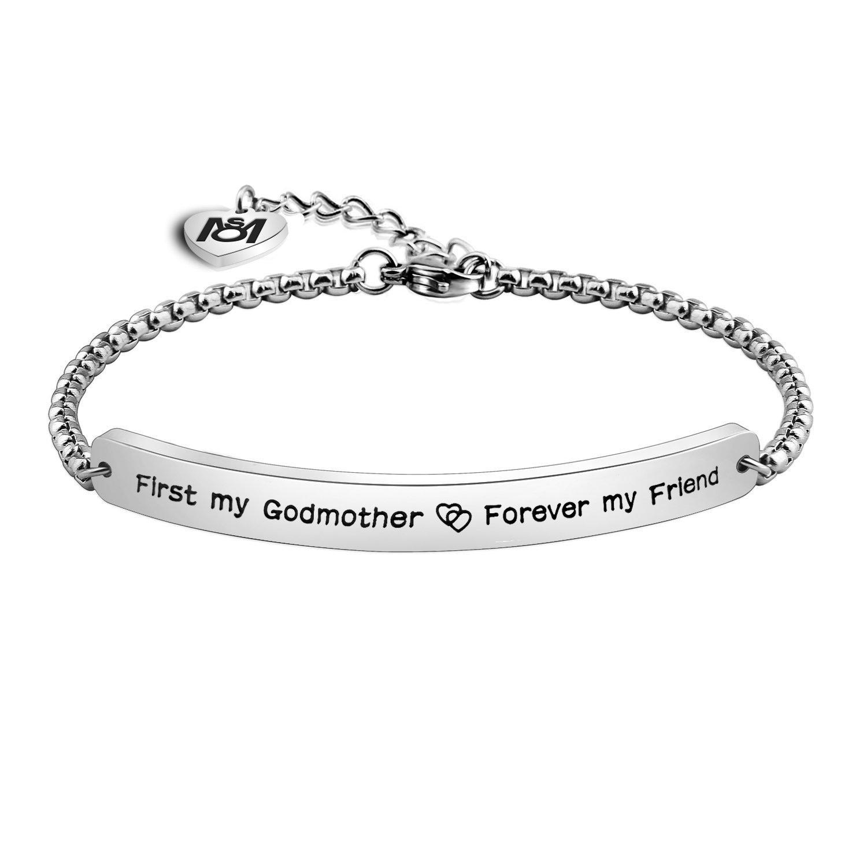 Myospark for Godmother First My Godmother,Forever My Friend Bracelet Jewelry B077Q5MSDW_US