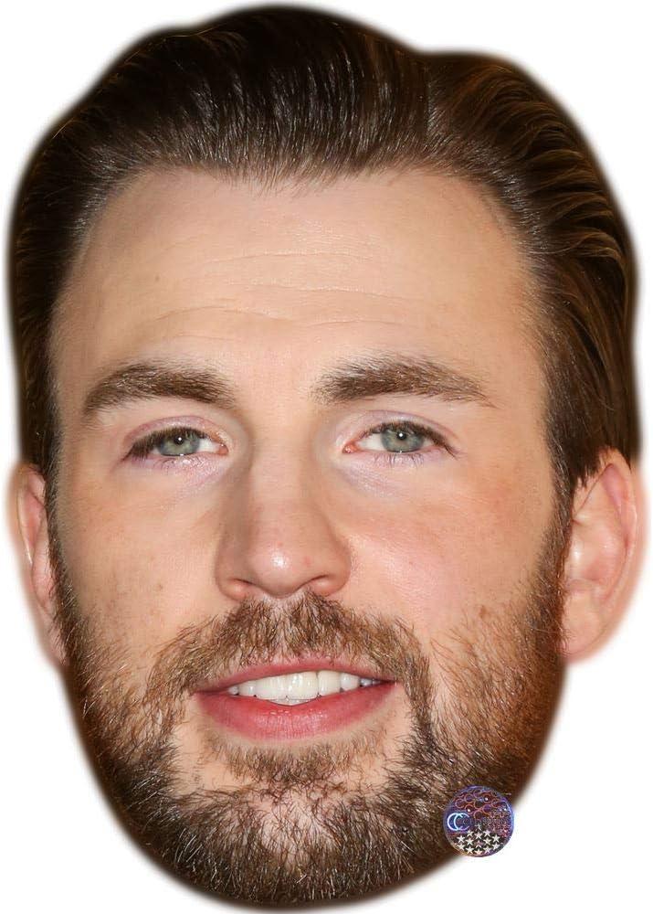 Chris Evans Celebrity Mask Card Face and Fancy Dress Mask