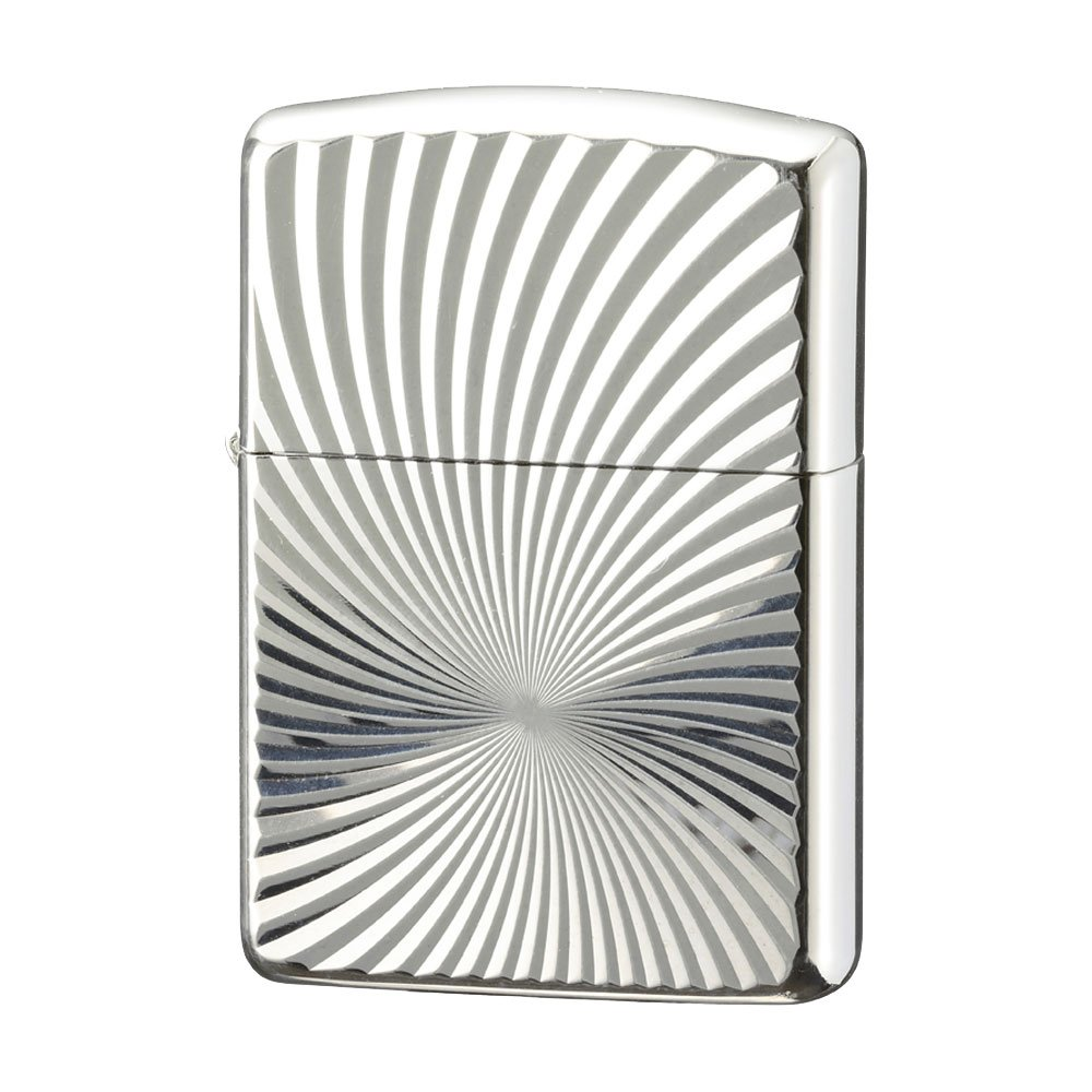 Zippo ジッポー 名入れ 彫刻 Zippoライター ジッポライター オイルライター アーマー 銀100ミクロン アーマー 彫刻シリーズ ハリケーン B073S7LBKC