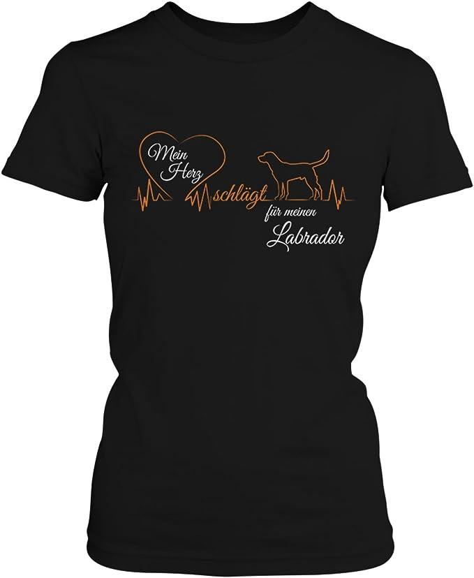 Labrador Damen T-Shirt mit Hund Fun Shirt Hunde Haustier Geschenk Geburtstag