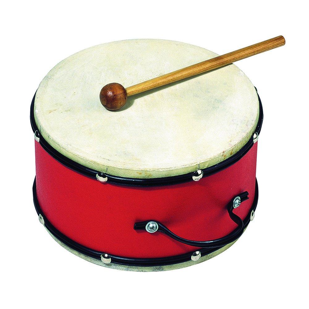 Goki UC018 - Musikinstrument - Trommel mit Holzschlägel Gollnest & Kiesel Musikspielwaren