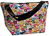 iscream 'Emoji Collage' Neoprene Overnight 20″ x 13″ x 7″ Travel Tote Bag with Adjustable Strap