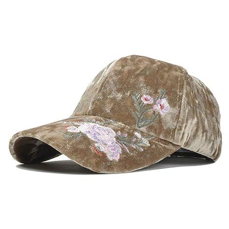 Gorra de Terciopelo Dorado cálido Grueso de otoño e Invierno ...