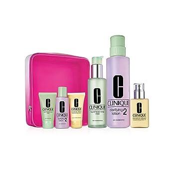 Clinique 3-step Home & Away 6 Pieces Set for Skin Types 3,4 Liquid Facial  Soap Oily Skin Formula +