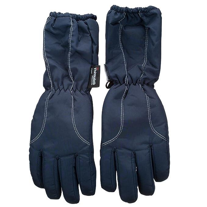 Amazon.com: Niños puños largos guantes de esquí, talla única ...